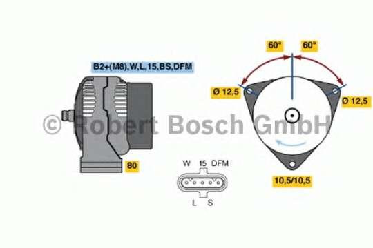 Генератор 0124555032 BOSCH